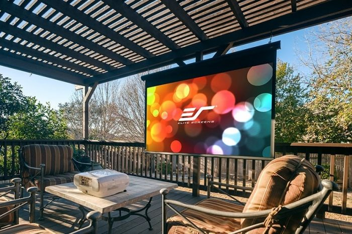 What are the things that you will need for an outdoor projector?